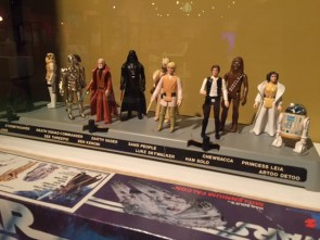 A collection of Star Wars figures at the Heinz History Center in Pittsburgh.